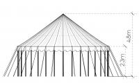 Striped LIttle Top elevation tent marquee canvas
