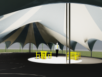 canvas carousel tent, sculpted canvas Big Top, circus tent, wedding marquee