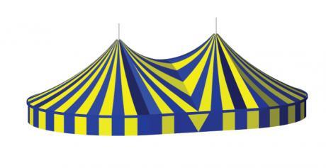 Twin Pole Big Top, 22m x 35m Circus Tent, Serge Ferrari, hire Big Top