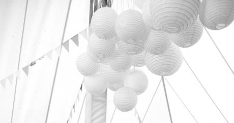 Decoration, white canvas tent, wedding, bright