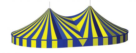 Twin Pole Big Top, 22m x 35m Circus Tent, Serge Ferrari, hire Big Top
