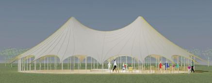 Scallop edge Big Top, Canvas big Top, Canvas Wedding Marquee, Contemporary Tensile Big Top