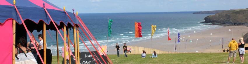 stripey little top, circus big top, festival tent