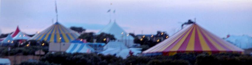 Tent skyline, Big Tops, Baby Big Top, Little top, marquees, festival