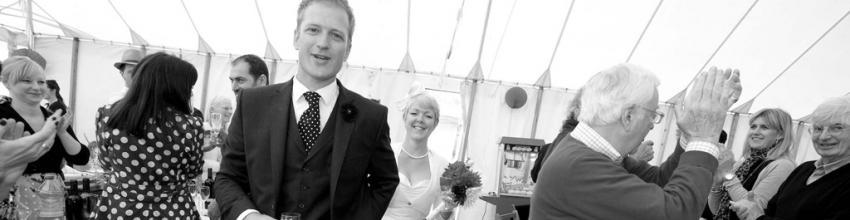 Celebration Venue, Wedding Marquee, White canvas Marquee
